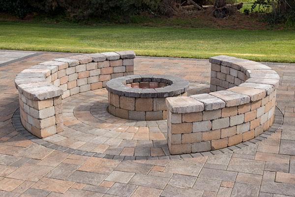 Tegula Garden Wall™ fire pit kit