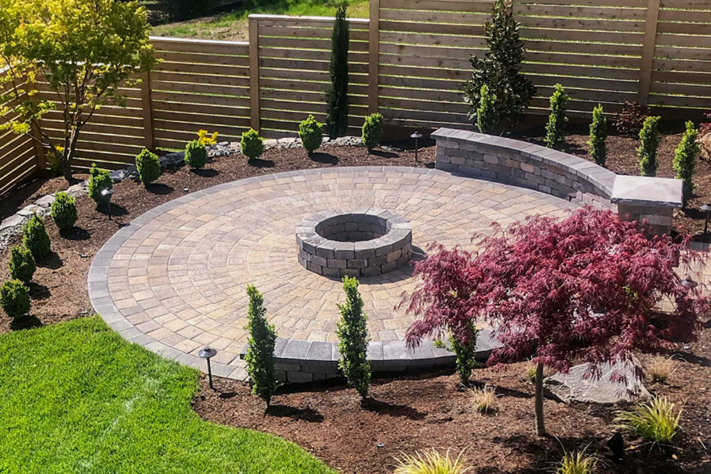 Circular Paver Patio Kit With Fire Pit Western Interlock